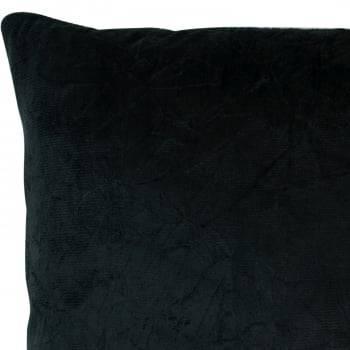 Capa de Almofada Suede Liso Preto 45cm x 45cm