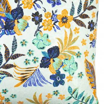 Capa de Almofada Tropical Floral Amarelo 40cm x 40cm