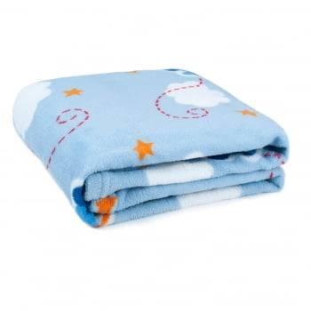 Cobertor Baby Fleece para Berço Antialérgico 90cm x 110cm Avião