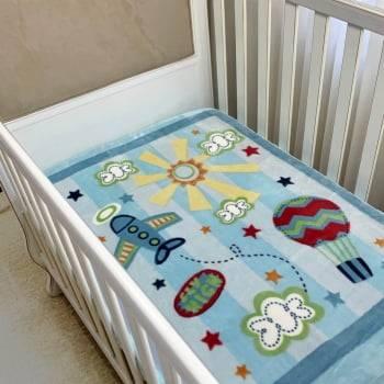 Cobertor Bebê Raschel Explorador Antialérgico - Corttex