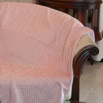 Manta De Sofá Listras Vermelho 1,95m x 1,45m