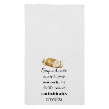Kit de Pano de Prato Pães 43 cm x 72 cm 3 Peças