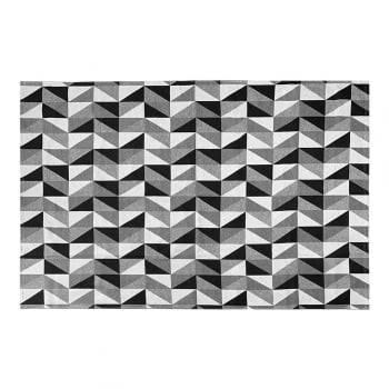 Tapete de Sala Contemporâneo Supreme Antiderrapante 2,00m x 1,32m - Preto