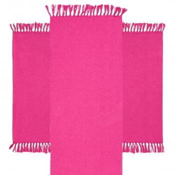 Kit de Cozinha 3 Peças Algodão Caraibeiras Liso Pink