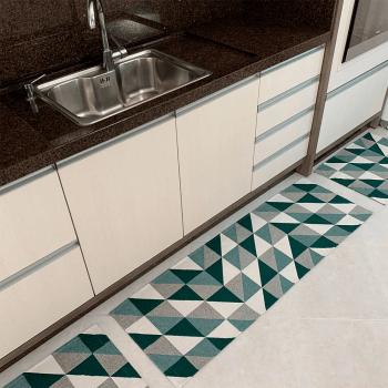 Kit de Cozinha 3 Peças Algodão Contemporâneo Dubai Verde
