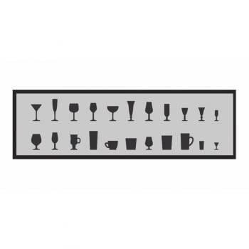 Kit Tapetes Black Taças Decore Antiderrapante 1,60 x 50 - Kacyumara