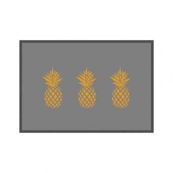 Tapete de Cozinha Abacaxi 45cm x 65cm Decore Antiderrapante - Kacyumara