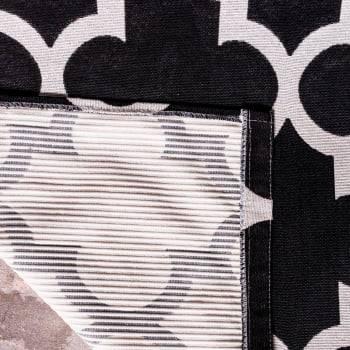 Tapete de Sala Contemporâneo Blenda Preto Antiderrapante