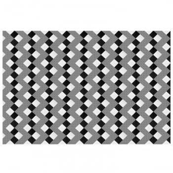 Tapete Pequeno para Sala ou Quarto Cristal Antiderrapante 1,50m x 1,00m - Preto