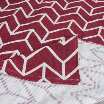 Tapete de Sala Contemporâneo Jaspe Vermelho Antiderrapante 1,46m x 2,00m
