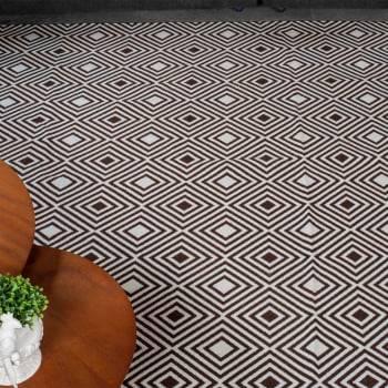 Tapete de Sala Contemporâneo Onix Marrom Antiderrapante 1,46m x 3,00m