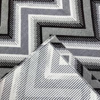 Tapete Pequeno para Sala ou Quarto Oslo Antiderrapante 1,00m x 1,50m - Marrom c/ Cinza