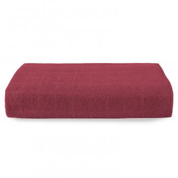 Toalha de Piso em Algodão Premium 75 x 48 cm - Bordô